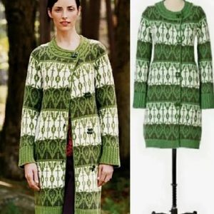 Anthropologie Sparrow Pine Cricket Sweater Coat SM